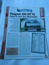 Peugeot 405 MI 16 1988 Fiche Technique Auto
