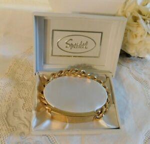 Vintage Speidel USA Men's ID Bracelet STEPHEN In Original Box