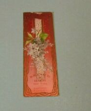 Kranich & Bach Artistic Pianos Victorian Trade Card Bookmark New York Flowers