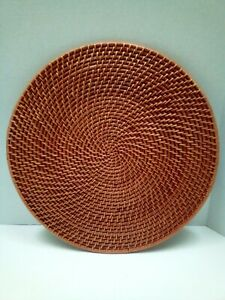 4pc Handmade Round Rattan Placemat 11.8Ó (Honey Color) Pre-owned