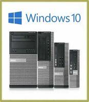 Dell Optiplex any Model intel Core2Duo/Dual Core Desktop 4GB RAM 160HD Win-10pro