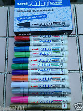Uni Oil Based Permanent Paint Marker PX-20 Medium in ASSORTED color x 12 pcs