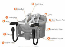 Hook On Booster Diner Seat Portable Table Clamp High Chair Clip For Infant Baby