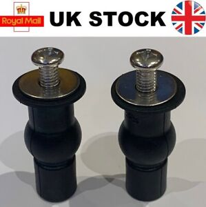 Toilet Seat Top Fix Seat Hinge Hole Fixings Well Nut Screw Rubber Back to Wall