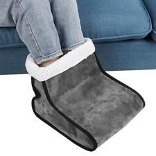 Electric Foot Warmer Detachable Feet Heating Boot Heater Shoes Us Plug (Grey)