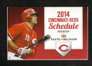 Cincinnati Reds--Joey Votto--2014 Pocket Schedule--Taste of Belgium