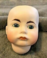 "Vintage S.F.B.J  232 Paris Repro Veta '82 Bisque Doll Head Blue Glass Eyes  4"""