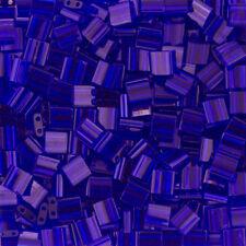 Miyuki Tila Seed Beads Transparent Cobalt TL151 5mm 7.2g Tube (K79/8)