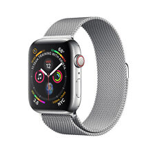 NEW Apple Watch Series 4 44mm Stainless Steel Case Milanese Loop GPS + Cellular