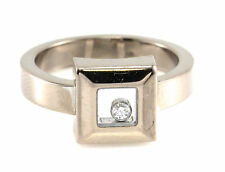 18K Chopard Happy Diamond Ring White Gold