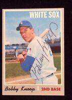 BOBBY KNOPP 1970 TOPPS Autographed Signed Baseball Card JSA 695 WHITE SOX HIGH#