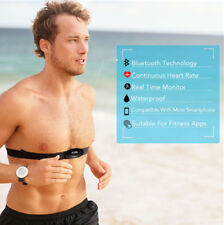 Heart Rate  Monitor Bluetooth Wireless Adjustable Chest Strap Fits Fitness APPs