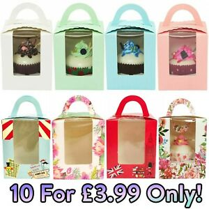 10x Large Single Cupcake Muffin CARRY Boxes! UK SELLER BULK DISCOUNTS AVAILABLE!