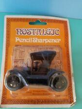 Vintage Old Car pencil sharpener, metal die cast