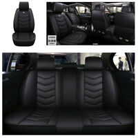 New Black Luxury Leather 6D Styling Car Seat Covers Front Back 5 Seat Covers