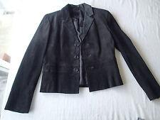 LAUREN Ralph Lauren blazer,JACKET,sz m SUEDE leather  black