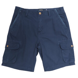 Quik Silver Men's Dark Navy Measure Cargo Shorts (Retail: $52.00)