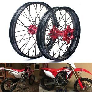 "21"" 19"" MX Front Rear Wheel Rims Hubs for Honda CRF250X CRF450X 04-16 CRF 250 R"