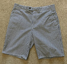 GORGEOUS CHARLES TYRWHITT BLUE GINGHAM PREPPY CHINO SHORTS 30 R COST £60