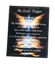 The Lord's Prayer with Angel Wings For Refrigerator Metal Doors 4x5 Wood Magnet