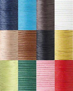 BOGO 0.5mm Waxed Cotton Cord Beading String Cording Jewelry Macrame 2x50ft Spool