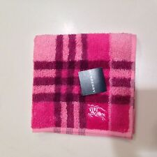 NWT Authentic Burberry Purse Hand Towel, pocket Towel, Baby Towel, Fuschia Pink