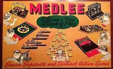 Medlee 7 Games A Game A Day A Week Of Play Built Rite Set 205 Partly Unpunched