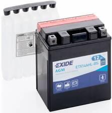 Batterie moto Exide YTX14AHL-BS ETX14AHL-BS 12V 12AH 200A 135X90X165MM