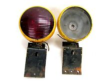 2 Vintage Minneapolis Moline Tractor Red Lights With Mounting Brackets