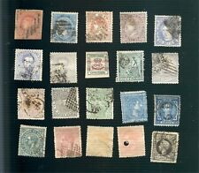 20 very old used stamps from Spain