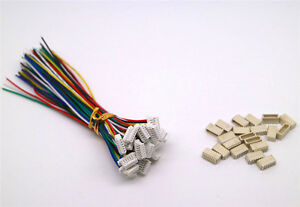 20 Sets JST SH 1.0MM 6-Pin Connector plug male female with Wire 100MM