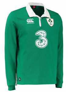 Genuine Canterbury Ireland Men's Classic Long Sleeve Rugby Jersey