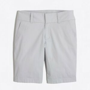 J Crew Frankie Bermuda Walking Shorts NEW Size 0 Gray Long Inseam $47 Preppy