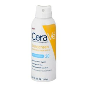 CeraVe Sunscreen Wet Skin Spray SPF 30 5 Oz New Sealed