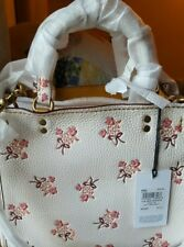 NWT Coach 1941 Rogue 25 with Floral Bow Print Chalk Shoulder Crossbody bag$650