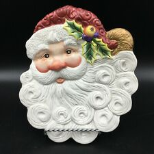 Fitz and Floyd Christmas Santa Claus Canape Plate Estate Sale Find