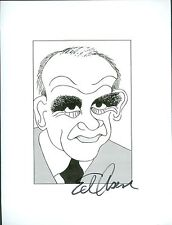 EDWARD ED ASNER Lou Grant, CSI NY, ER, X Files Signed 8.5x11 Cartoon Autograph a