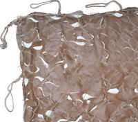 Hunting CAMO NET Netting Blind Disguise Ground Cover Camouflage 10x10' Tan