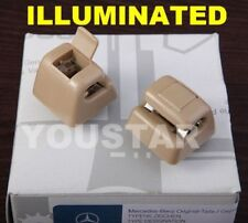 US Seller 2x Cream Beige Sun Visor Clips for Mercedes W123 W124 W126 W201 190E