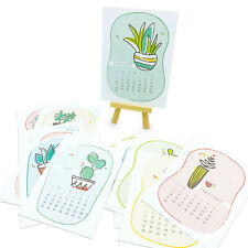 Pretty Plants 2021 Illustrated Desk Calendar
