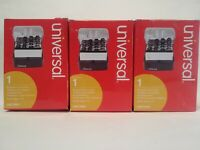 Universal Push-Button Business Card File, Plastic, 4 x 5 3/4 x 2 Lot of 3 New