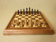 Wooden Chess Board & Playing Pieces Complete Set Of Chessmen Hours Of Fun