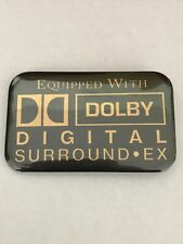 Equipped with DOLBY DIGITAL SURROUND EX~Vtg Movie Theater Pinback Button Badge