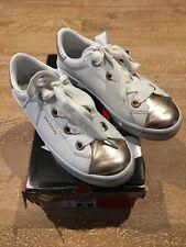 Skechers Street On Trend White&gold Sneakers