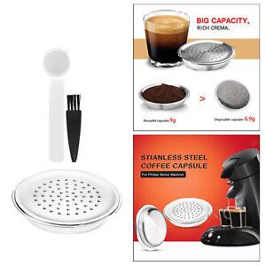 Stainless Coffee Capsule Caps for Senseo HD6592, HD 7801 Coffee Machine