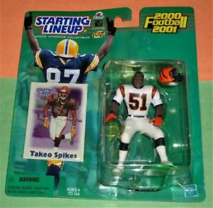 2000 TAKEO SPIKES Cincinnati Bengals Rookie *FREE_s/h* sole Starting Lineup