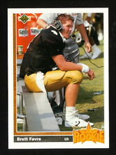 Brett Favre Rookie Card--Atlanta Falcons--1991 Upper Deck Football