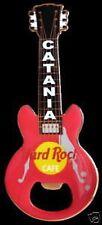 Hard Rock Cafe CATANIA Red Bottle Opener Guitar Magnet