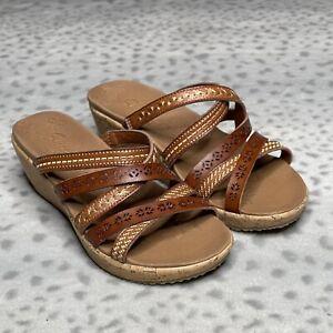 Skechers Beverlee Tiger Posse Platform Wedge Comfort Sandal Women's Size 6