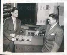 1949 Inventor H R Davidson With Librascope Tristimulus Integrator  Press Photo